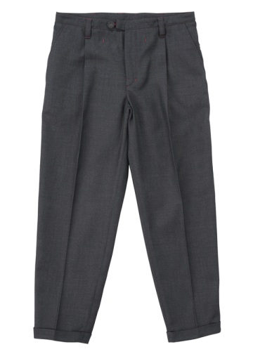 S Polyester wool tapared pants