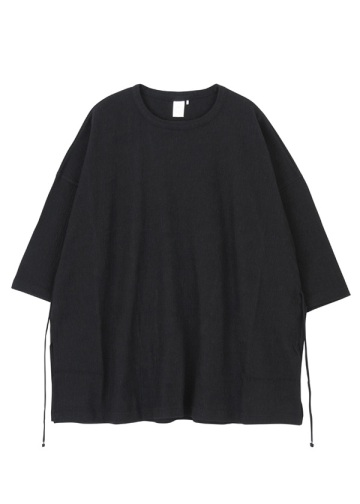 Straiped crepe knit - BIG T