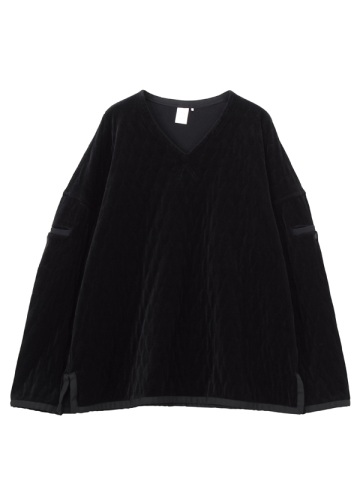 Quilting velour pullover