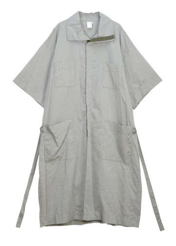 (O) SHORT SLEEVE LONG COAT