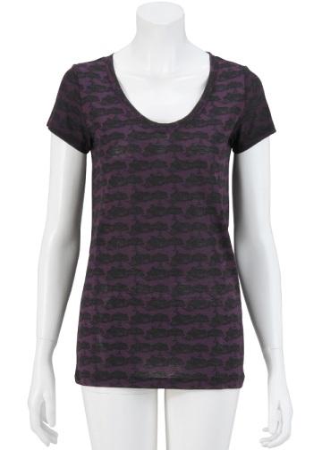 【SALE】TSUMORI CHISATO / S かたつむりハウスT / Tシャツ purple(15)