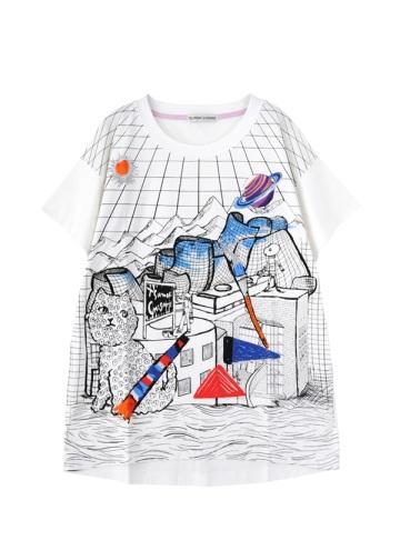 TSUMORI CHISATO / ビルバオユニバースT / Tシャツ