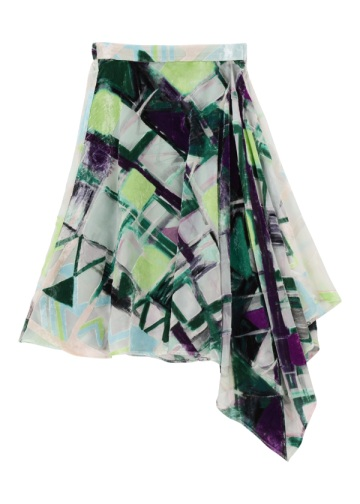 TSUMORI CHISATO / 手描きチェック / スカート