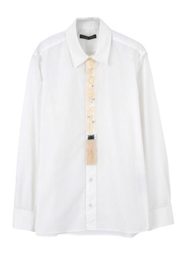 TSUMORI CHISATO / メンズ コード刺繍タイシャツ / シャツ