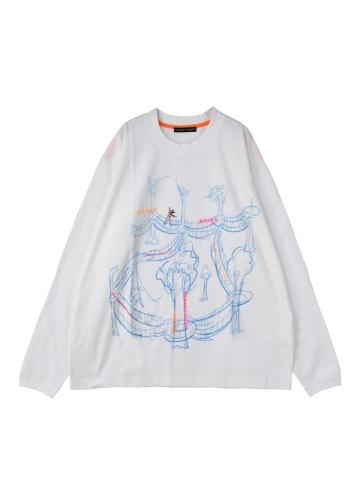 TSUMORI CHISATO / S メンズ アスレチック刺繍T / カットソー