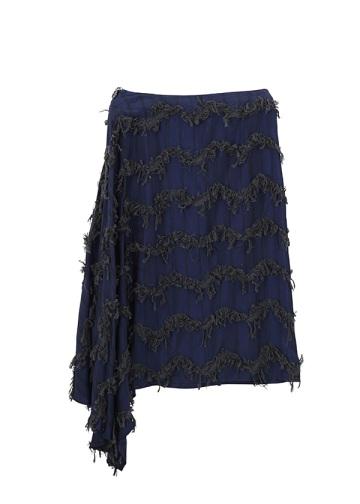 ZUCCa / (O) ストライプフリンジ / スカート