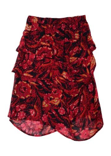 ZUCCa / S モザイクフラワープリント / スカート