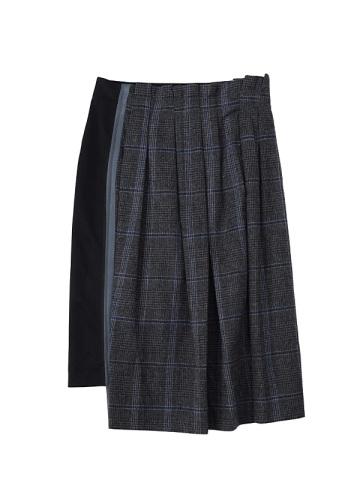 ZUCCa / テープドッキングチェック / スカート