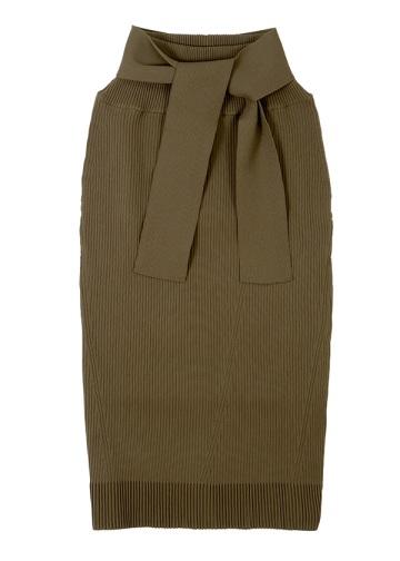 ZUCCa / ストレッチリブニット / スカート