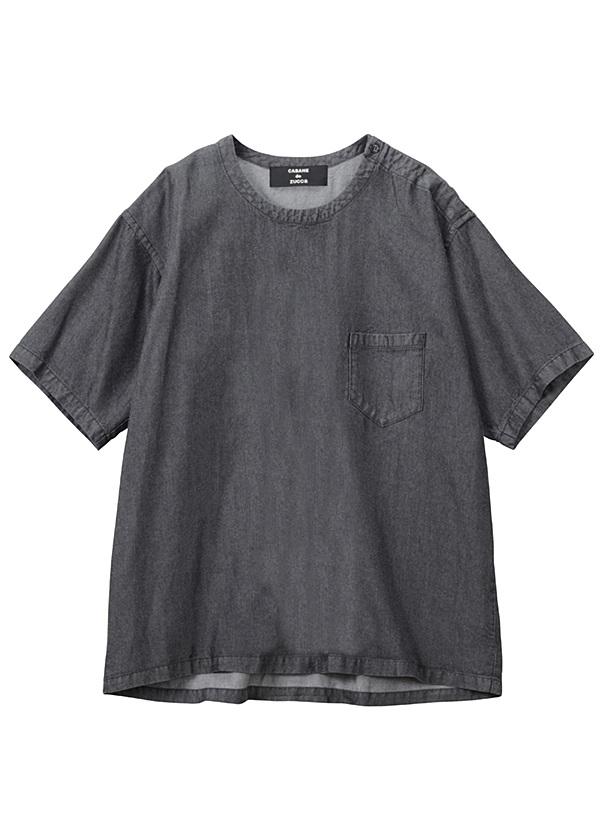 【SALE】ZUCCa / S メンズ テンセルデニム / シャツ 黒