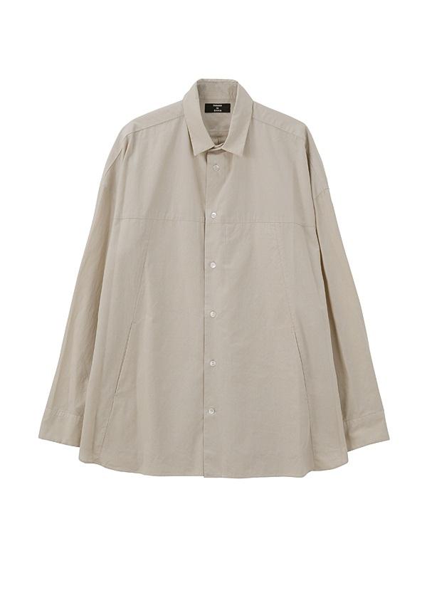 【SALE】ZUCCa / S メンズ オーバーサイズシャツ / シャツ ベージュ