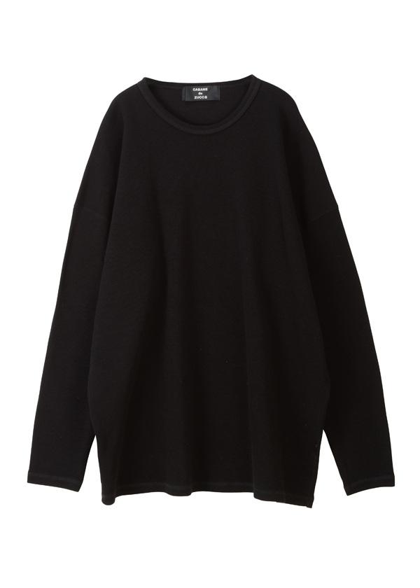 【SALE】ZUCCa / S メンズ ダブルフェイスジャージィー / カットソー 黒