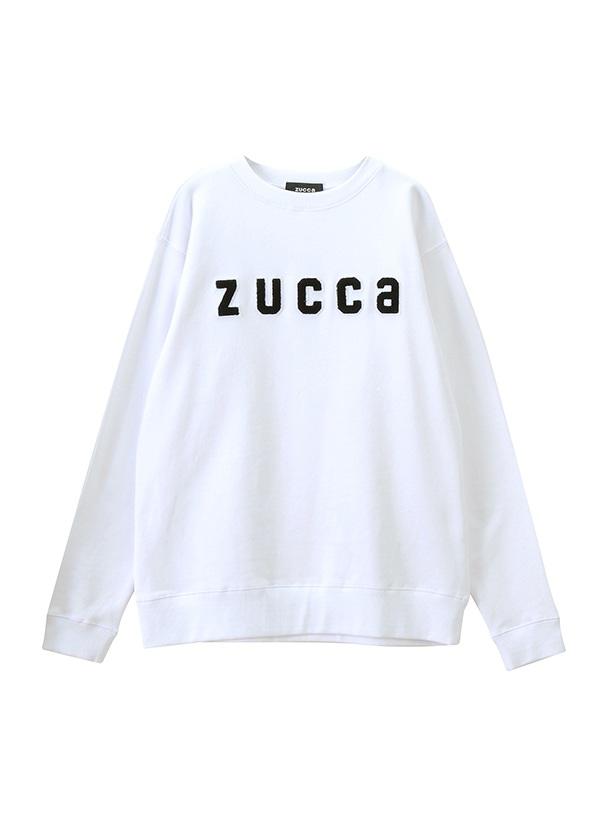 ZUCCa / メンズ ワッペンロゴ裏毛 / トレーナー 白
