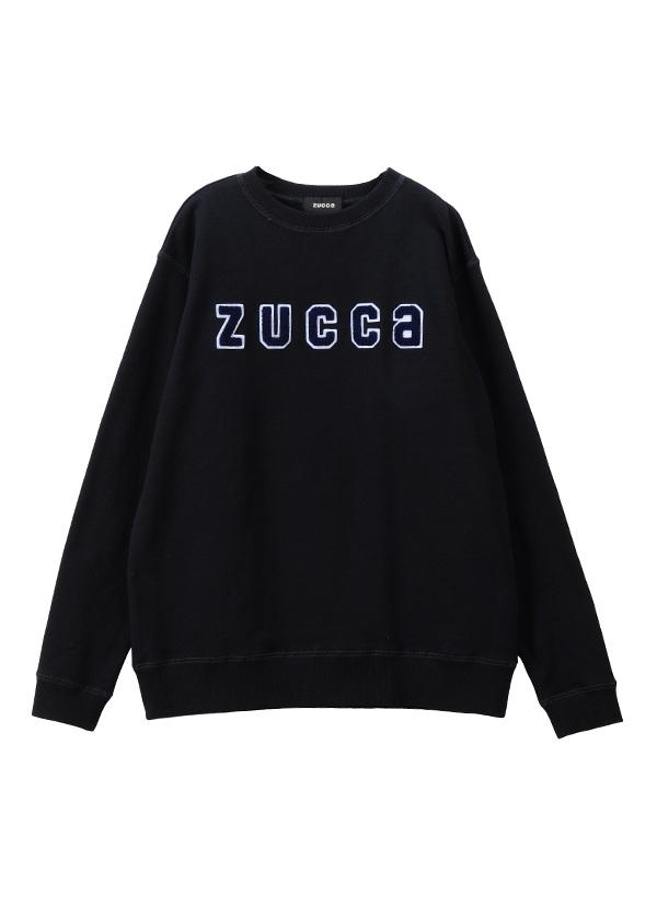 ZUCCa / メンズ ワッペンロゴ裏毛 / トレーナー ネイビー