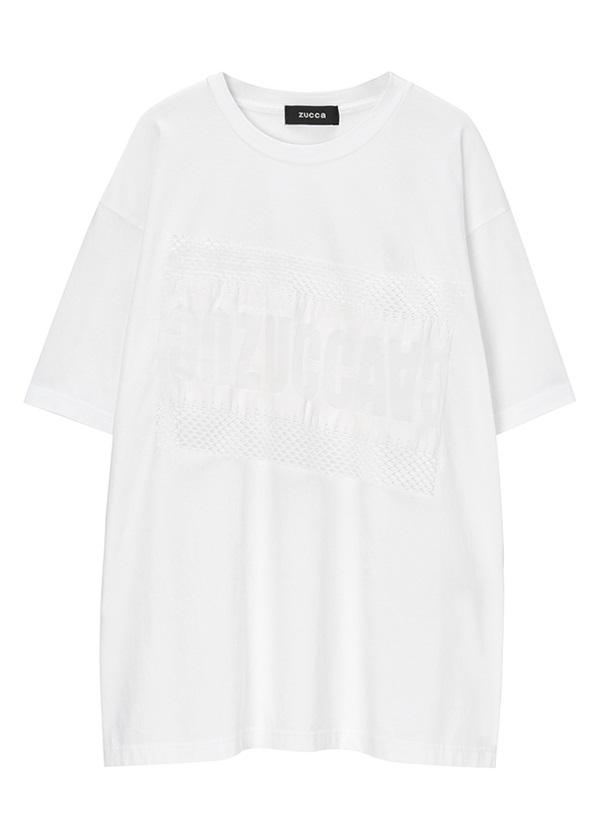 ZUCCa / メンズ ロゴレースジャージィー / Tシャツ 白