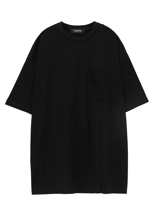 ZUCCa / メンズ コットンクリアジャージィー / Tシャツ 黒