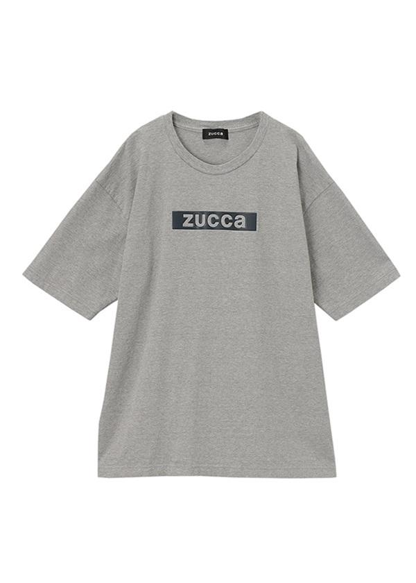 ZUCCa / メンズ ステッカーロゴTシャツ / Tシャツ グレー