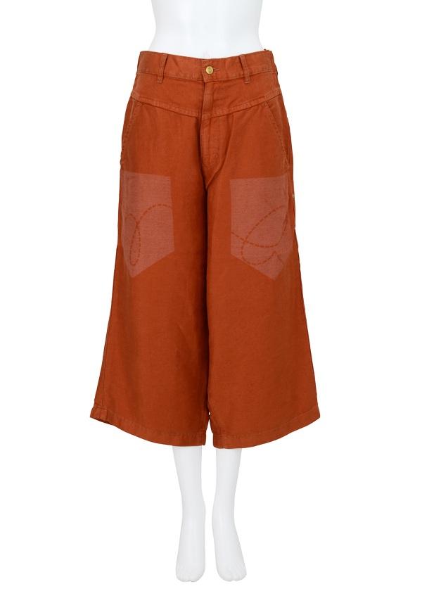 【SALE】メルシーボークー、 / PD ポケプリ / パンツ オレンジ / レンガ