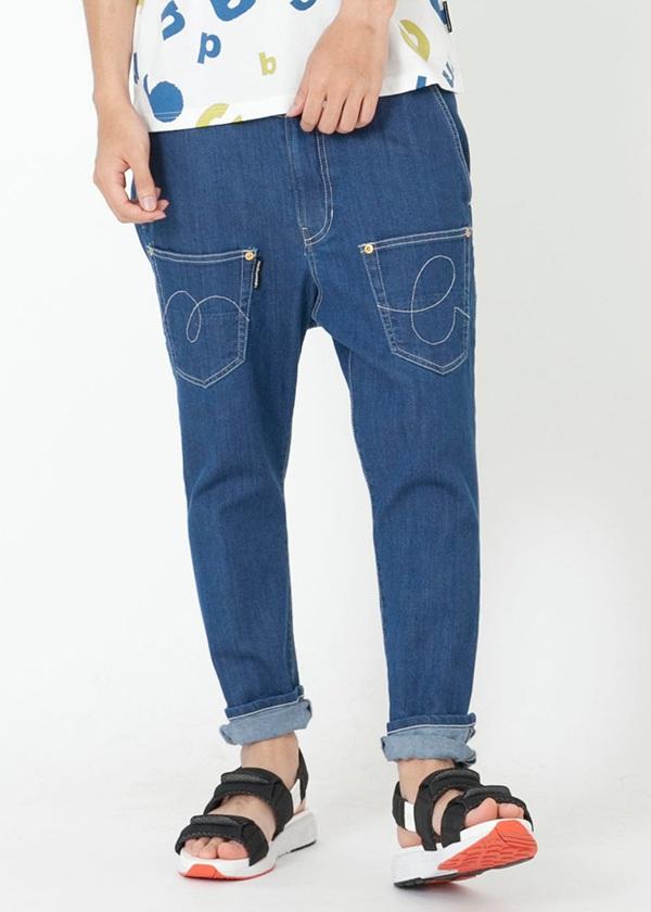 メルシーボークー、 / GF メンズ B:うしろまえデニム / パンツ ブルー