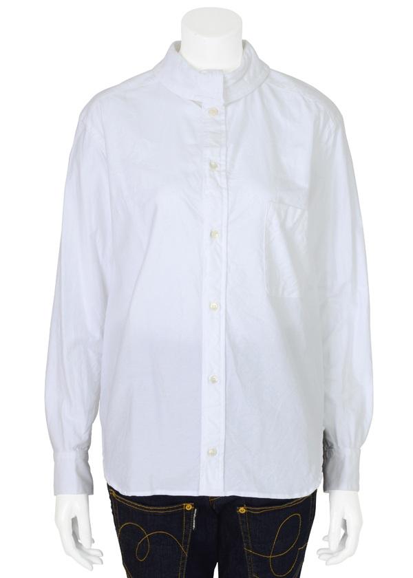 【SALE】メルシーボークー、 / S ハイシャツ / シャツ 白