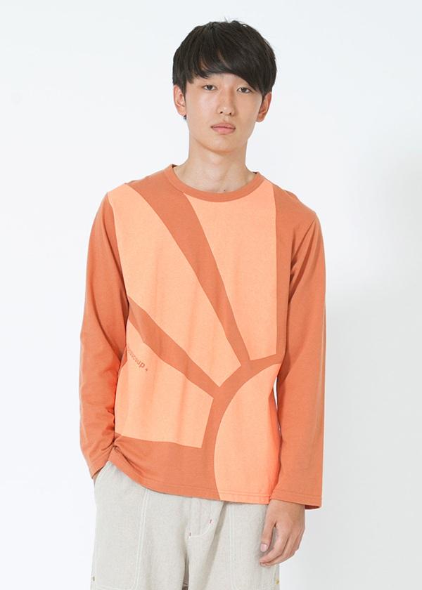 【SALE】メルシーボークー、 / PD メンズ アマテラティー / Tシャツ オレンジ / レンガ