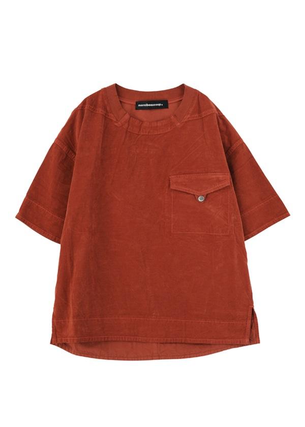 【SALE】メルシーボークー、 / S B:チビコール / シャツ オレンジ / レンガ