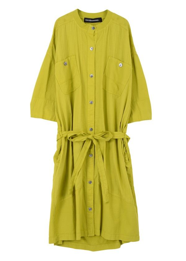 【SALE】メルシーボークー、 / S ガラガラ合わせ / ロング丈の羽織り ライトグリーン
