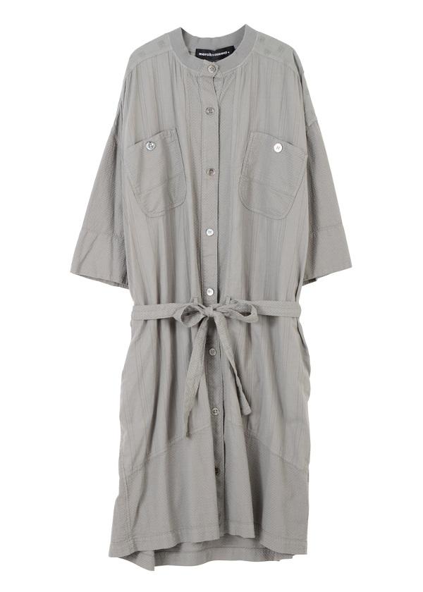 【SALE】メルシーボークー、 / S ガラガラ合わせ / ロング丈の羽織り グレー