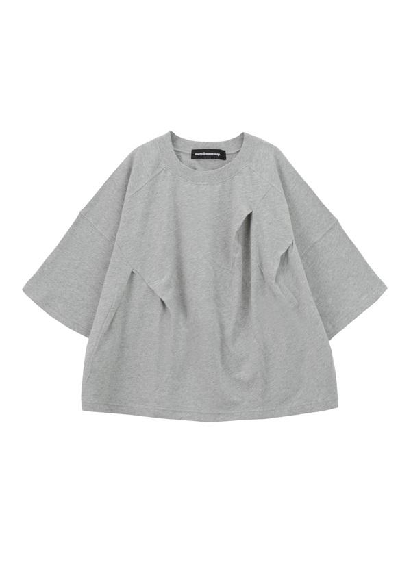 【SALE】メルシーボークー、 / S B:ミニウスウラケ / カットソー グレー