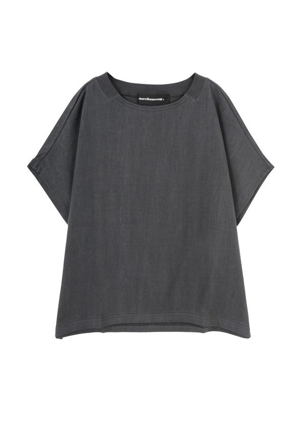 【SALE】メルシーボークー、 / S 当たりソー / Tシャツ チャコールグレー