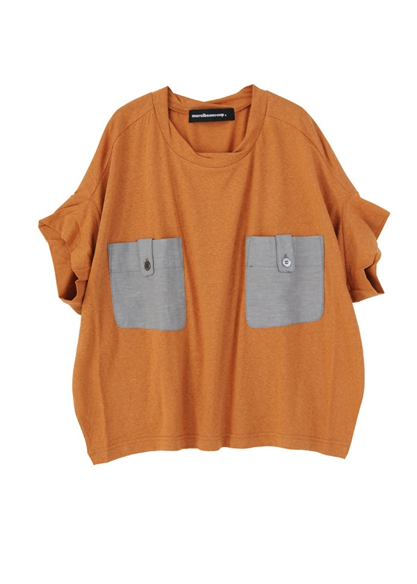 【SALE】メルシーボークー、 / S B:ポケティー / Tシャツ キャメル
