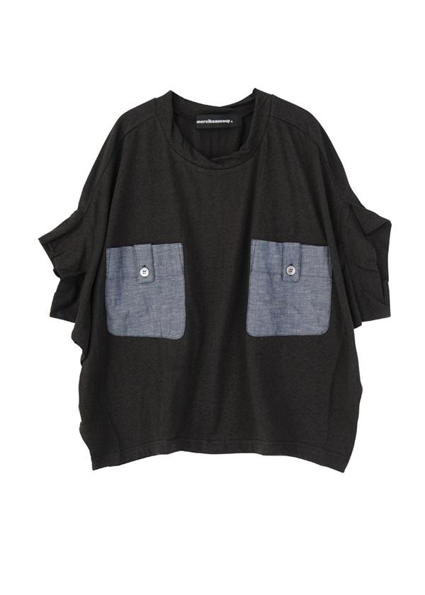 【SALE】メルシーボークー、 / S B:ポケティー / Tシャツ 黒