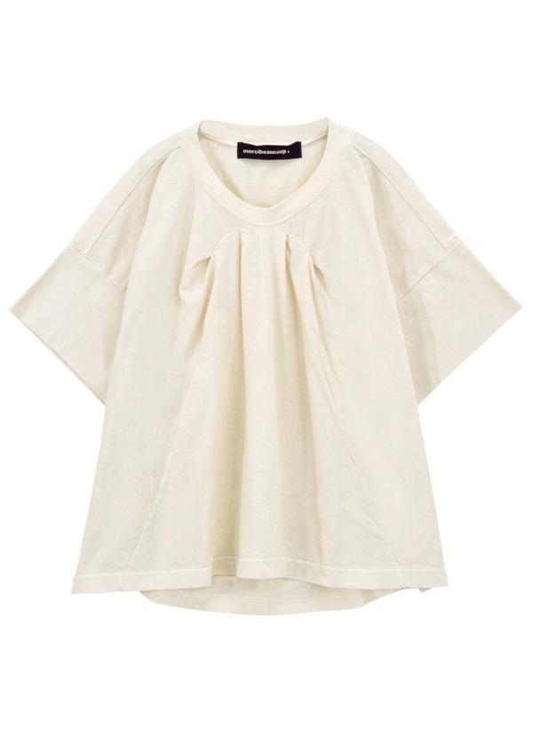 メルシーボークー、 / B:草木染メルティー / Tシャツ オフ白【ファッション・アパレル レディースシャツ】【mercibeaucoup,(メルシーボークー)】/MB73JK0780201