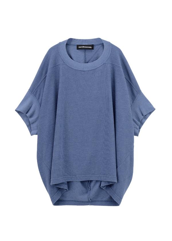 【SALE】メルシーボークー、 / S ブロックインレイ / カットソー ブルー