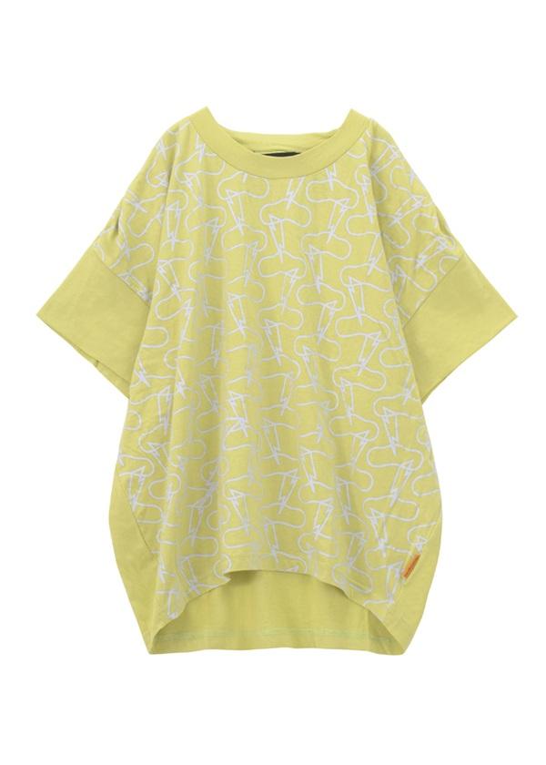 【SALE】メルシーボークー、 / S B:雷ソー / Tシャツ ライトグリーン