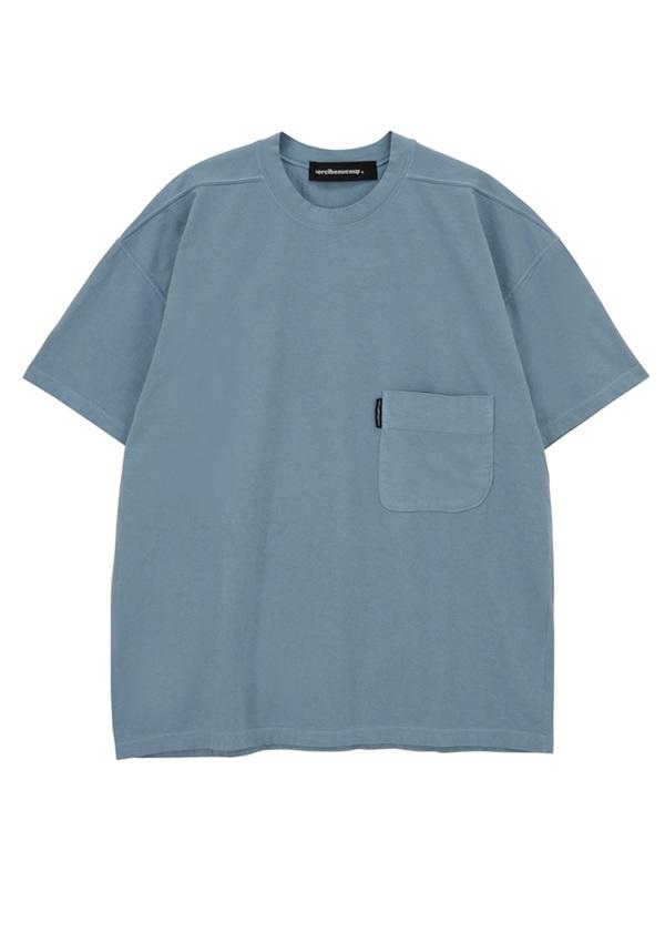 メルシーボークー、 / B:草木染メルティー / Tシャツ ライトブルー【ファッション・アパレル レディースシャツ】【mercibeaucoup,(メルシーボークー)】/MB73JK9351103