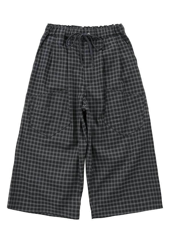 メルシーボークー、 / B:おちつきチェック / パンツ 黒