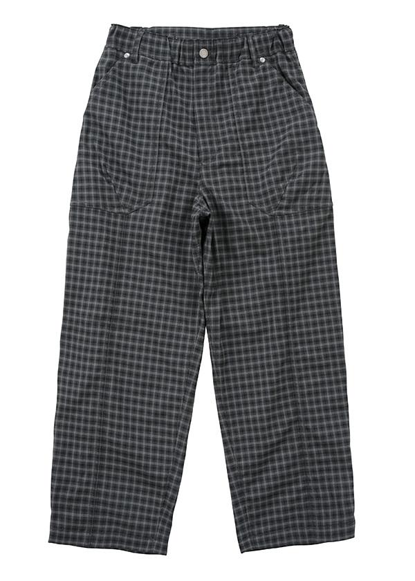 メルシーボークー、 / 【Web限定】 B:おちつきチェック / パンツ 黒