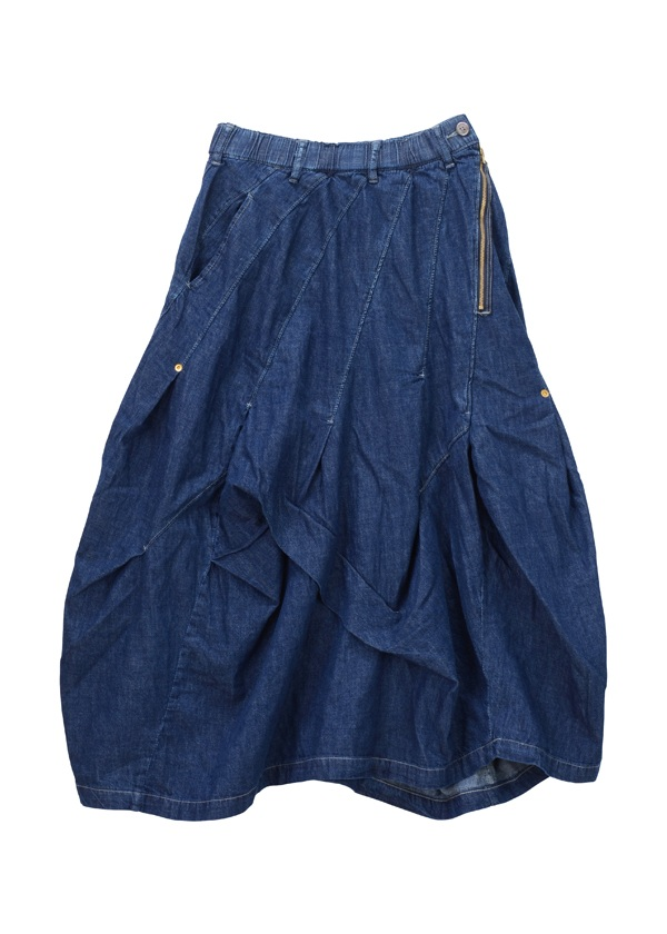 メルシーボークー、 / ロンデニふわスカ / デニムスカート ブルー
