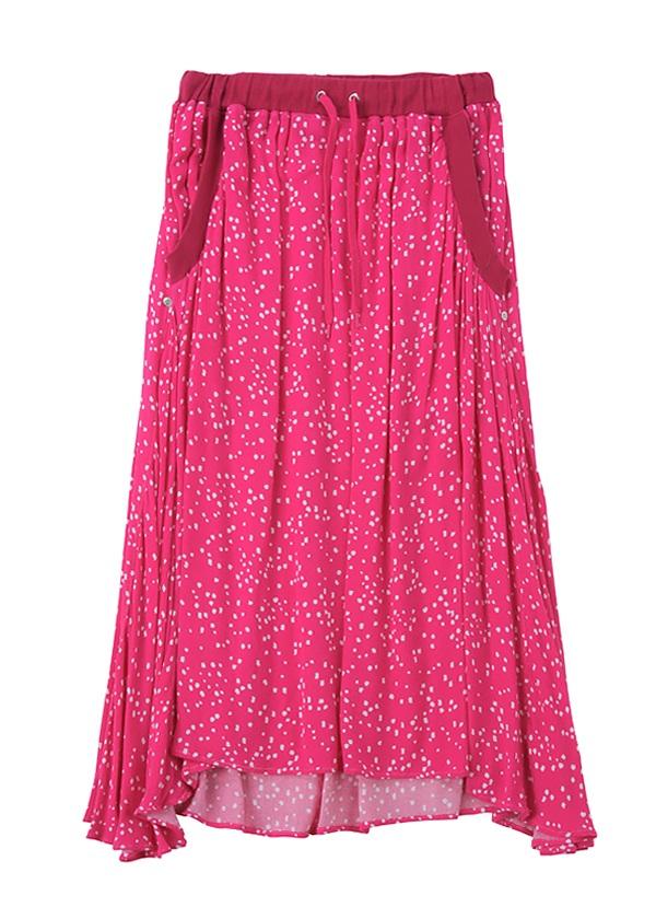 B:かすれ雪玉 / スカート ピンク