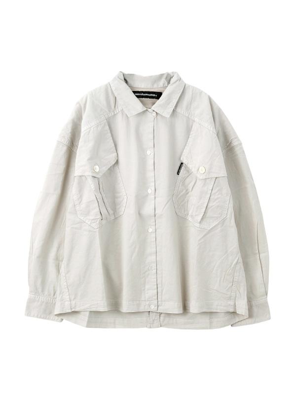 【SALE】メルシーボークー、 / S B:てろシャツ / ブラウス オフ白