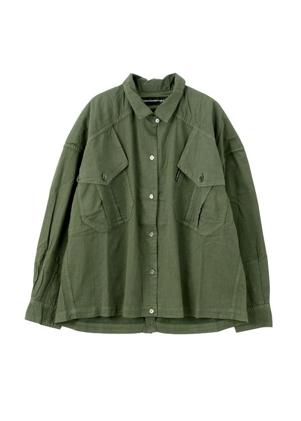 【SALE】メルシーボークー、 / S B:てろシャツ / ブラウス カーキ