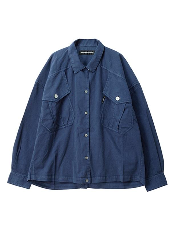 【SALE】メルシーボークー、 / S B:てろシャツ / ブラウス ネイビー