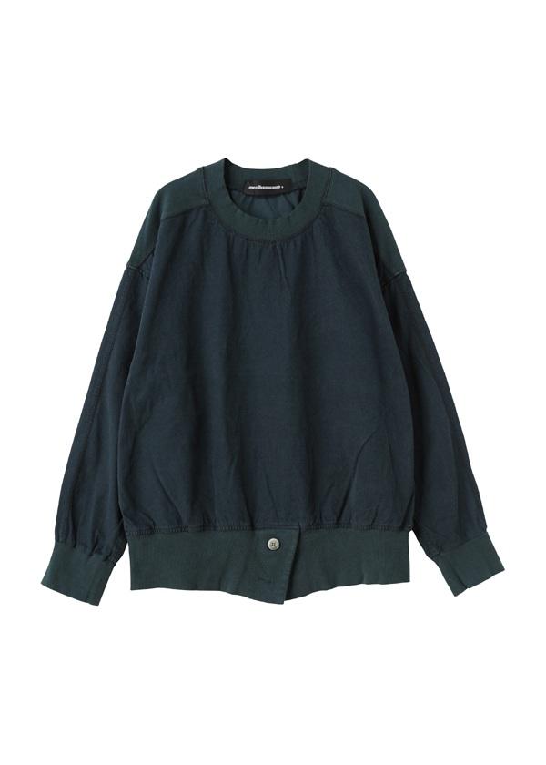 メルシーボークー、 / B:スウェットシャツ布 / ブラウス グリーン