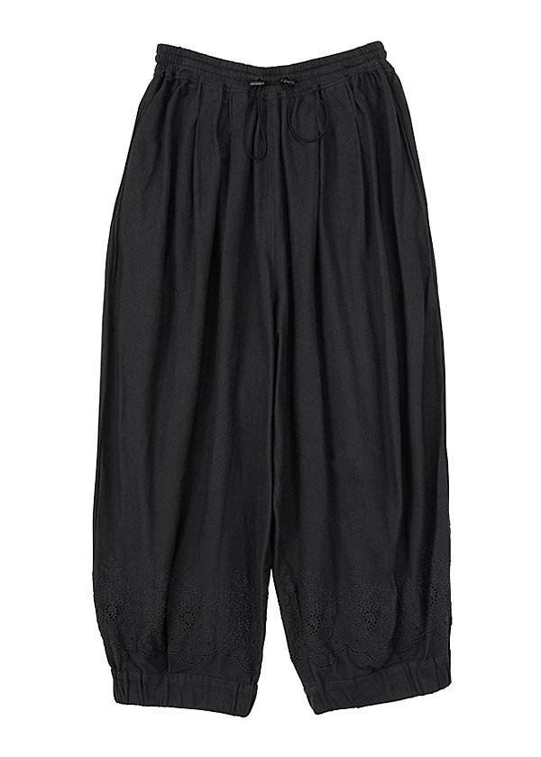 B:ししゅうソー / パンツ 黒