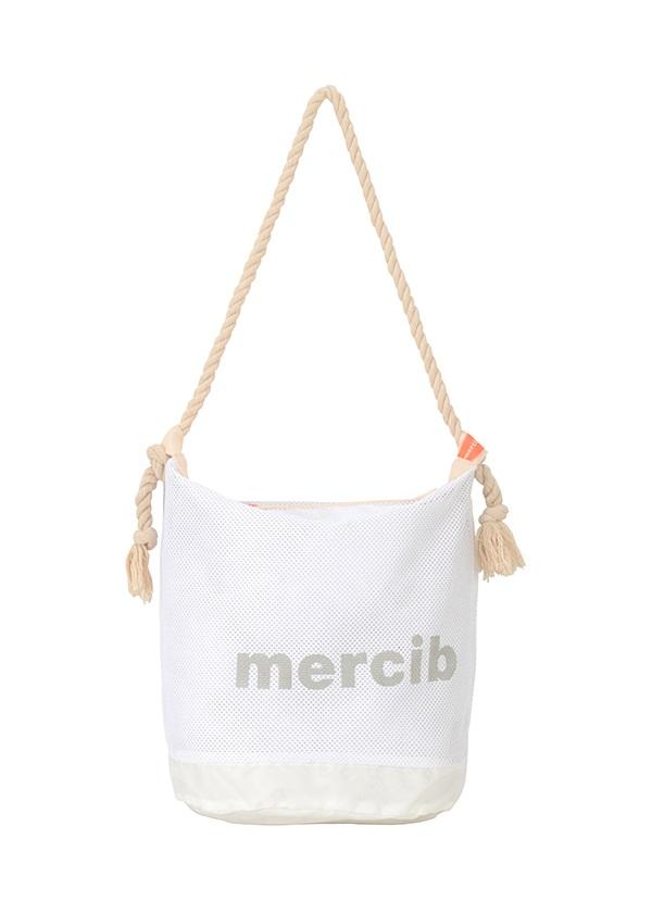 メルシーボークー、 / 【WEB限定】 L:メルネットバッグ / トートバッグ 白