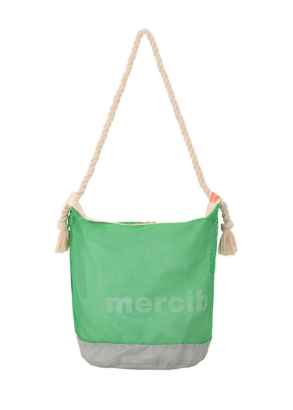メルシーボークー、 / 【WEB限定】 L:メルネットバッグ / トートバッグ ライトグリーン