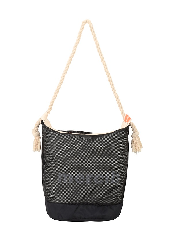 メルシーボークー、 / 【WEB限定】 L:メルネットバッグ / トートバッグ 黒