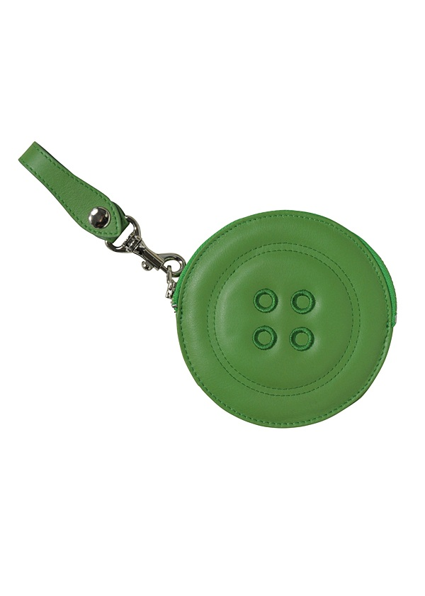 メルシーボークー、 / ボタンコイン / コインケース ライトグリーン