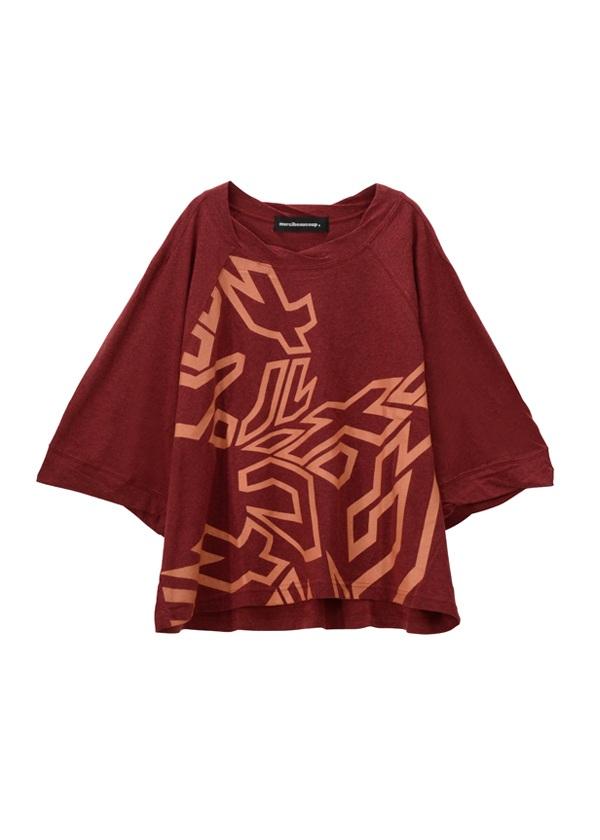 【SALE】メルシーボークー、 / S B:カタカナティー / Tシャツ 濃赤 / ワイン